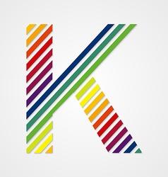 Alphabet Letter K vector