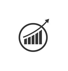 Analytics icon design template isolated vector