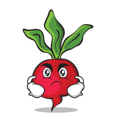 Angry face radish character cartoon collection vector