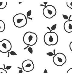 apricot fruit icon seamless pattern background vector image
