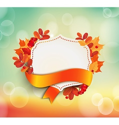 Autumn background with vintage frame vector image