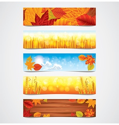 Banners autumn vector