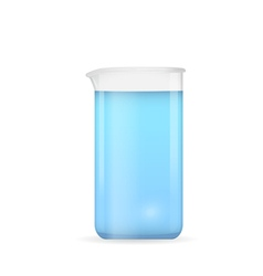 Beaker with pure blue water vector image