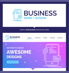 Beautiful business concept brand name frontend vector