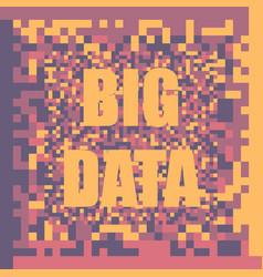 big data concept background vector image