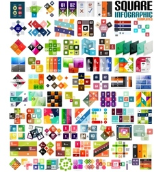 Big set of infographic modern templates - squares vector