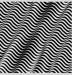 Black and white background pattern with optical vector