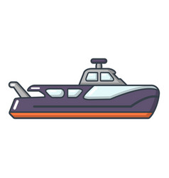 boat icon cartoon style vector image