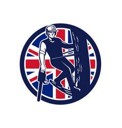 British arborist union jack flag icon vector