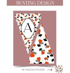 Bunting design - drink me bottle from wonderland vector