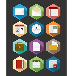 Business flat icons design set vector image