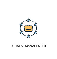 Business management concept 2 colored line icon vector