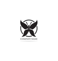 buttterfly logo template animal vector image