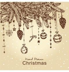 christmas fur tree vector image