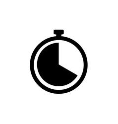 clock icon timer sign stopwatch symbol vector image