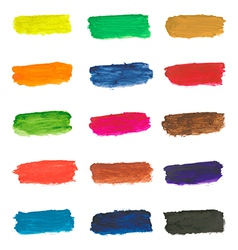 Colorful paint brushstrokes vector