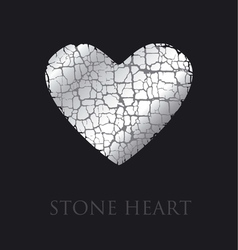 Concept abstract broken heart modern style stone vector