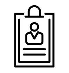 Customer info icon outline style vector