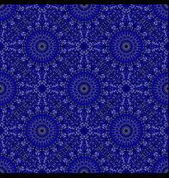 Dark blue floral pattern background - abstract vector