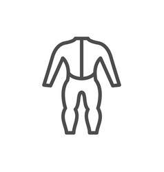 diving suit line outline icon vector image