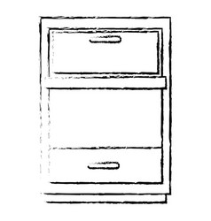 drawer house isolated icon vector image