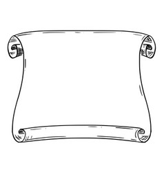 Drawing old antique empty scroll vector