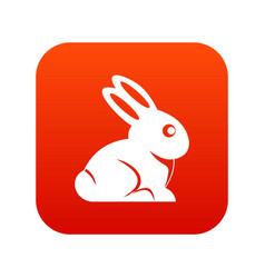 easter bunny icon digital red vector image