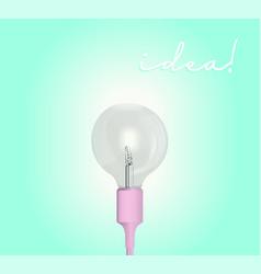 electric lamp 3d light bulb idea vector image