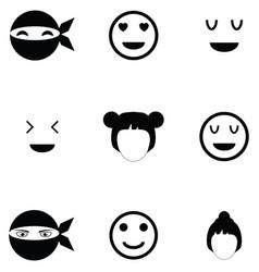 face icon set vector image