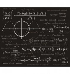 Formulas background vector