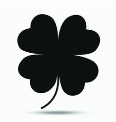 four-leaf clover - a symbol of good luck vector image