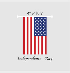 fourth of july independece day greeting card vector image