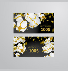 gift 3d background festive box gift card vector image
