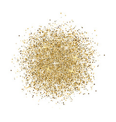 glitter background gold glitter splash on white vector image