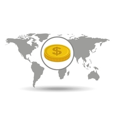 global business currency concept icon vector image