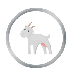Goat icon cartoon Single bio eco organic vector image
