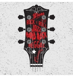 Guitar head and lettering vector