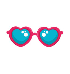 Hippie fashion glasses vector
