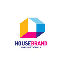 home decoration logo vector image