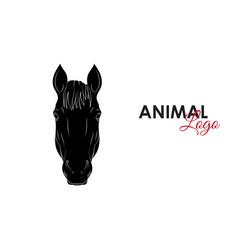 horse icon logo symbol vector image