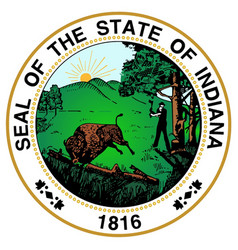 Indiana state seal vector