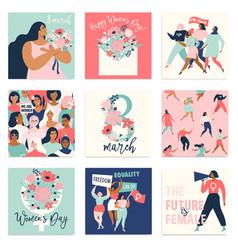 International womens day templates vector