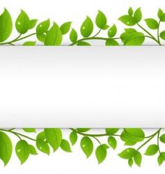 leafy border vector image