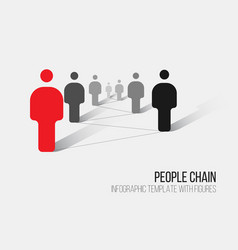 Minimalist 3d people diagram template vector