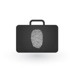 modern flat icon of secured briefcase with vector image