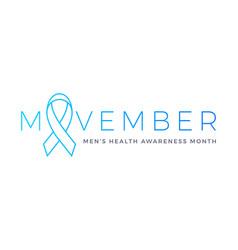 Movember men health man prostate cancer awareness vector