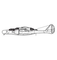 Northrop p-61 black widow vector