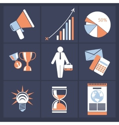 Office and business icons in gray buttons version vector