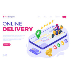 online food order package delivery service vector image