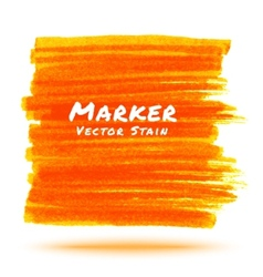 Orange Marker Stain vector image